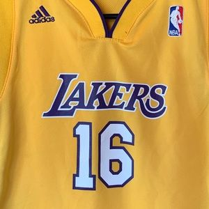 ADIDAS Youth Los Angeles Lakers Pau Gasoline Y J…